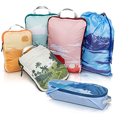 6-Piece Packing Cubes Travel Organizer- Compression Packing Cubes