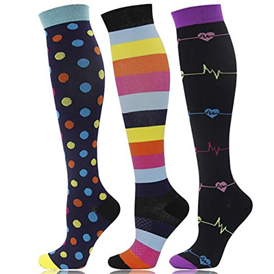 Double Couple Graduated Medical Compression Socks for Women