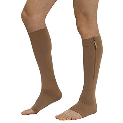 Frank & Clare Toeless Compression Zipper Socks
