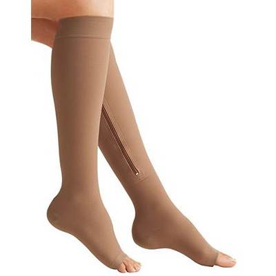 Lemon Hero Zipper Medical Compression Socks with Open Toe