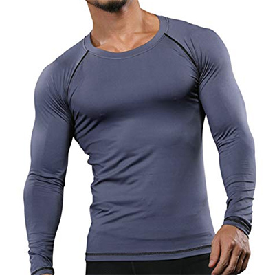 MuscleMate Men's Long Sleeve Compression Shirt
