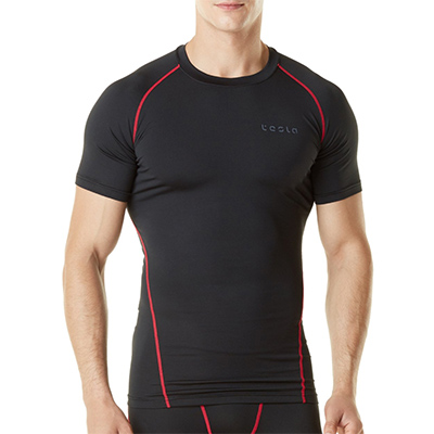 TSLA Mens Basic Compression Tee Shirt